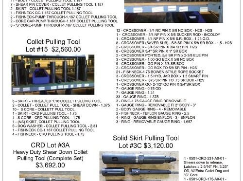 Number of great Tool Lots for sale!
