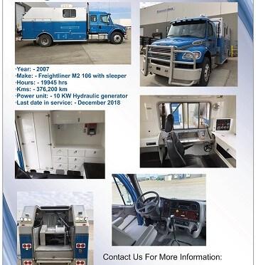 For Sale - 2007 Freightliner Single Axel Slickline Truck