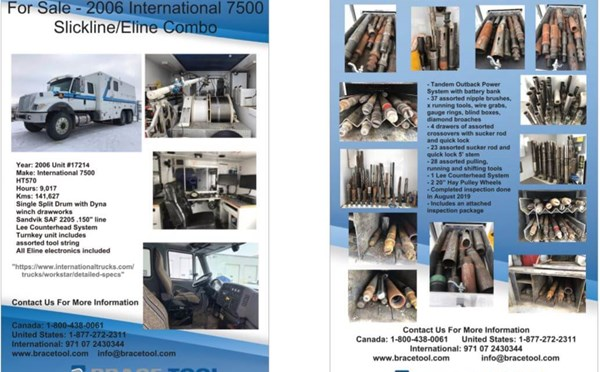 For Sale - Slickline/Eline Combo Truck Unit #17214